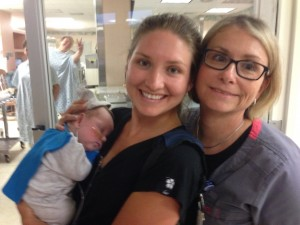 Respiratory Therapists/Baby Stealers (note Abigail's photobomb...)